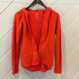 {Lucy} Hoodie and Shirt Orange Set Sz Small